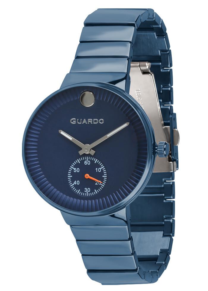 Часы женские Guardo B01400-(2)-6 синие