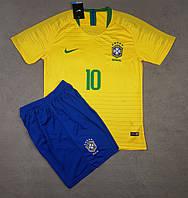 Футбольная форма Cборной Бразилии ЧМ 2018 домашняя, желтая