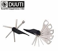 Велосипедный мультитул / набор инструментов 15-в-1 «DUUTI» TL-17 из двух частей + накидные ключи