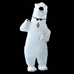 Надувной костюм Медведь Белый