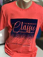 Стильная молодежная мужская коралловая футболка.Турция Размер ХXL (54)