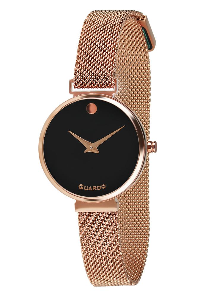 Часы женские Guardo B01401-5 розово-золотые