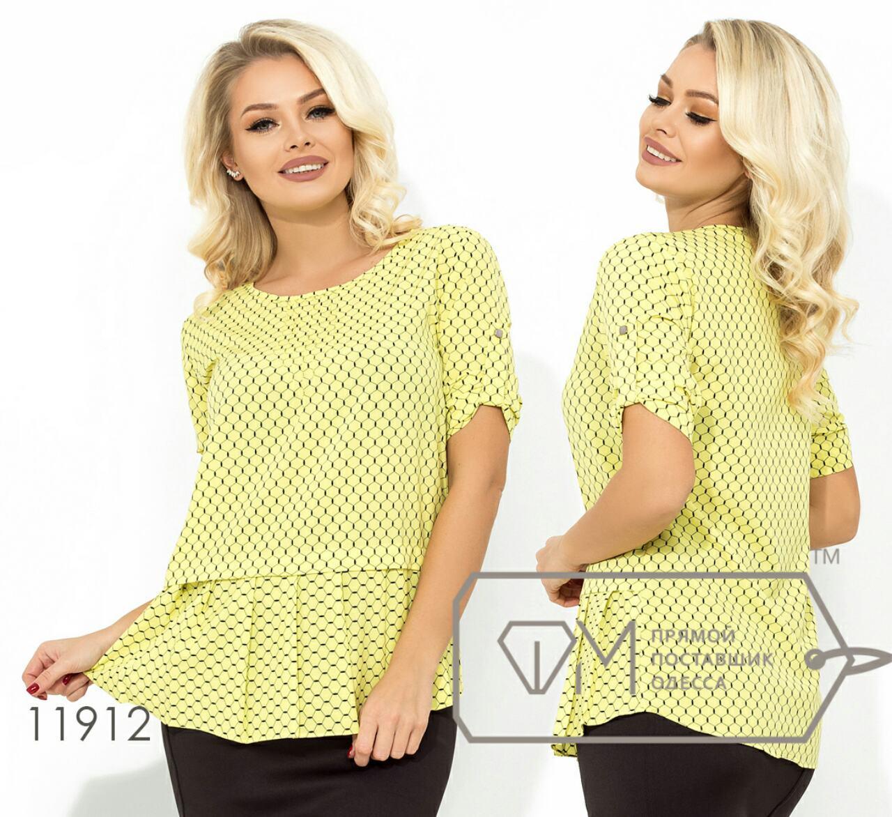 Яркая блузка с принтом 42-50 (в расцветках)