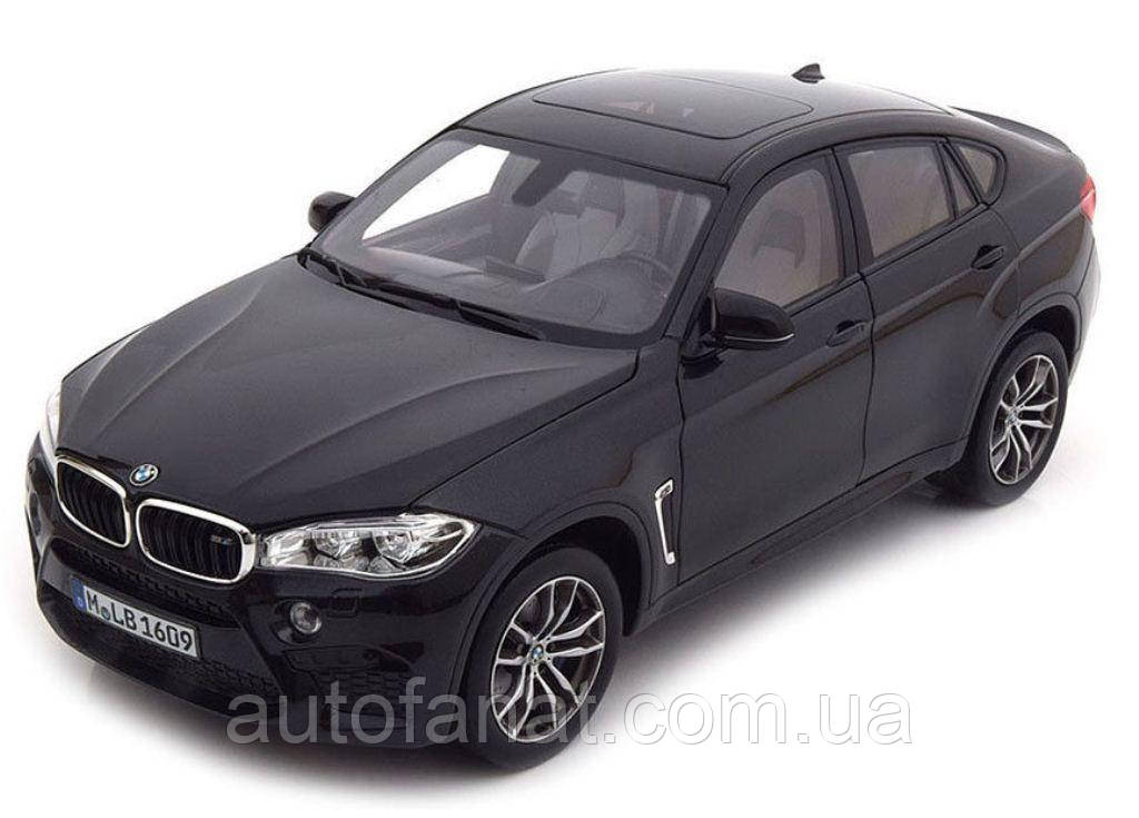 Оригинальная модель BMW X6M (F86), Scale 1:18, Black Sapphire (80432364887)