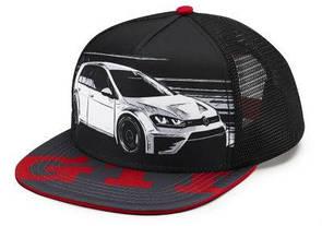 Бейсболка Volkswagen GTI Baseball Cap, Flat Brim, Black/Red