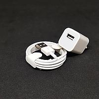 СЗУ адаптер 220 V + кабель Iphone Xs 2в1 2.4