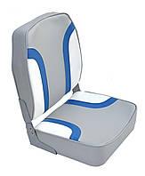 Сиденье высокое светло-серое/сине-белое