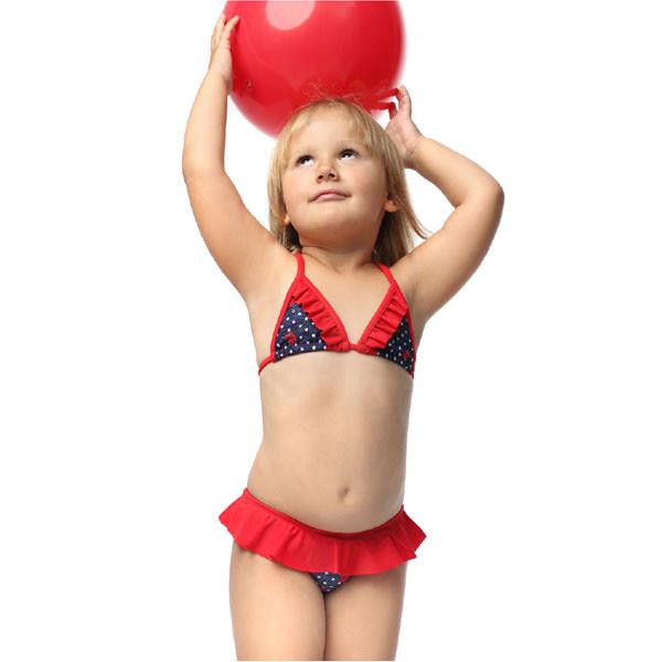 Детский купальник раздельный Keizy LADYBUG BIKIN р.92-116