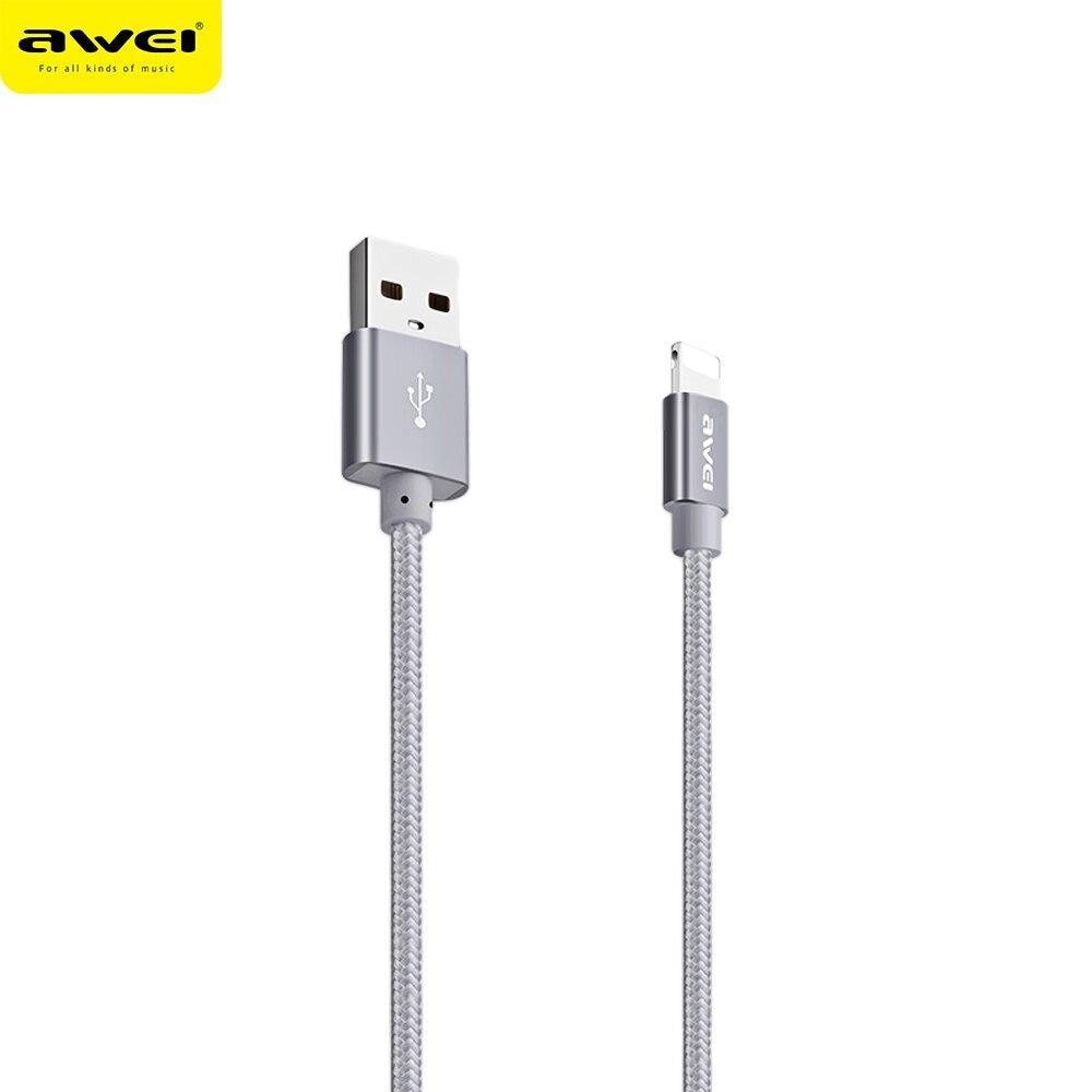 USB кабель Awei CL-988 Lightning (Серый)