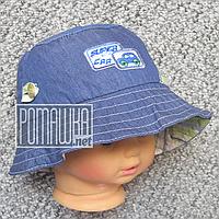 Детская р 48 12-18 мес летняя Стильная панамка на для мальчика мальчику панама для детей ребёнка 4767 Зеленый, фото 1