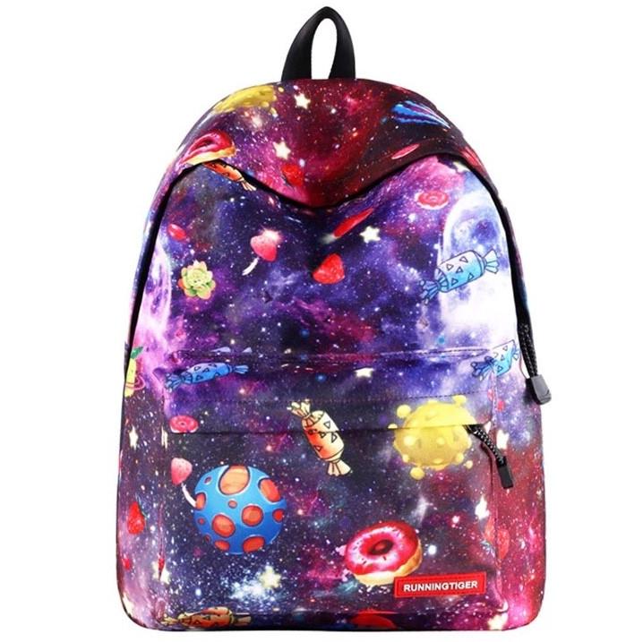 Рюкзак Космос школьный цветной Конфетный