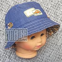 Детская р 48 12-18 мес летняя Стильная панамка на для мальчика мальчику панама для детей ребёнка 4767 Коричнев, фото 1