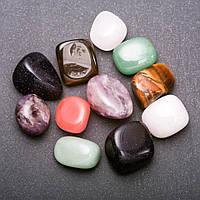 Натуральный камень ассорти галтовка 15х20мм( +-) фасовка 100грамм