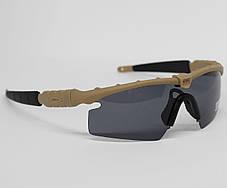 Очки тактические, темные Oakley, 3 линзы в комплекте (oakley-3-coyote), фото 3