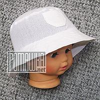 Детская р 48 12-18 мес летняя Стильная панамка на для мальчика мальчику панама для детей ребёнка 4768 Белый