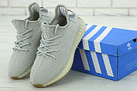 Серые кроссовки Adidas Yeezy Boost 350 (реплика ААА+), фото 1