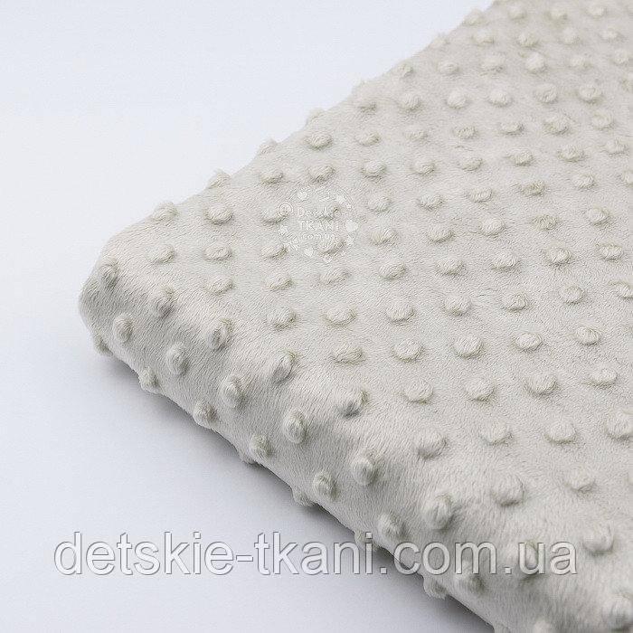 Лоскут плюша minky жемчужно-бежевого цвета М-67, размер 100*150 см