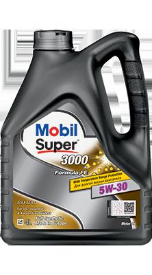 Моторное масло  Mobil Super (мобил) 3000 X1 Formula FE 5W-30 4л