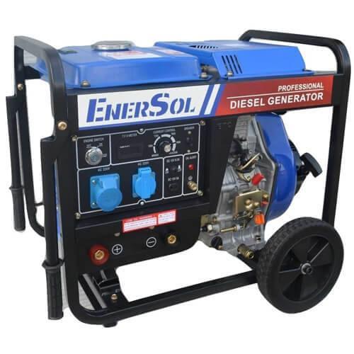 Дизельный сварочный однофазный генератор 6.6 кВА EnerSol SWD-7E