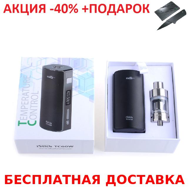 Электронная сигарета Eleaf iStick TC 60W Start kit Black + нож- визитка