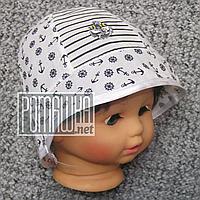 Детская р 46 9-12 мес летняя Стильная панамка на для мальчика мальчику панама для детей ребёнка 4769 Белый
