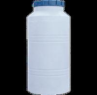 Емкость бак для воды вертикальная круглая белая  200 (л)