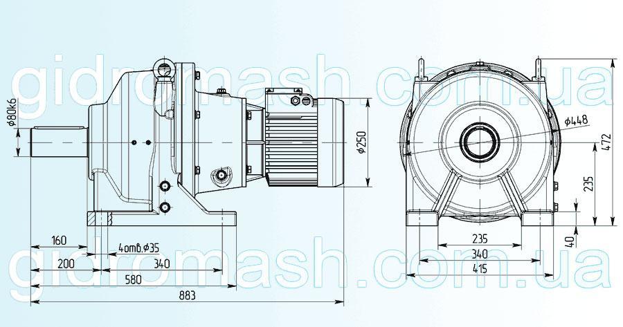 Планетарный мотор-редуктор 3МП-100