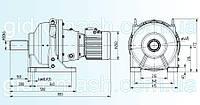 Планетарный мотор-редуктор 3МП-100, фото 1