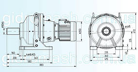 Планетарний мотор-редуктор 3МП-100