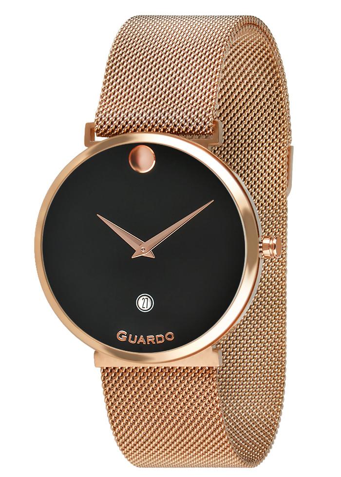 Часы женские Guardo B01402-5 розово-золотые