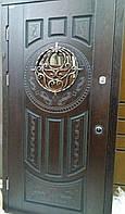 "Двері вхідні металеві з віконечком серії ""Акцент- ПОЛІМЕР"""