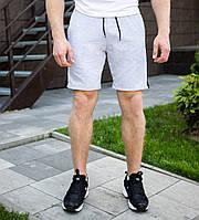 Мужские шорты Pobedov летние из трикотажа с карманами в сером цвете, ОРИГИНАЛ, фото 1