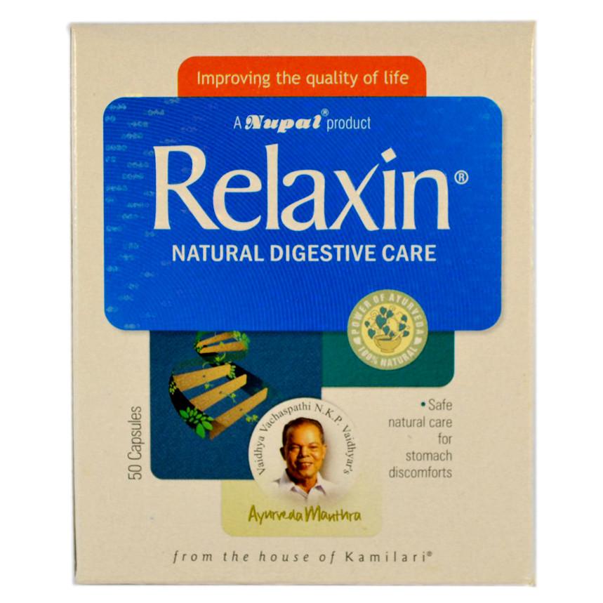 Релаксин (Relaxin Сapsules, Nupal Remedies) натуральное средство от болезней желудка, 50 капсул