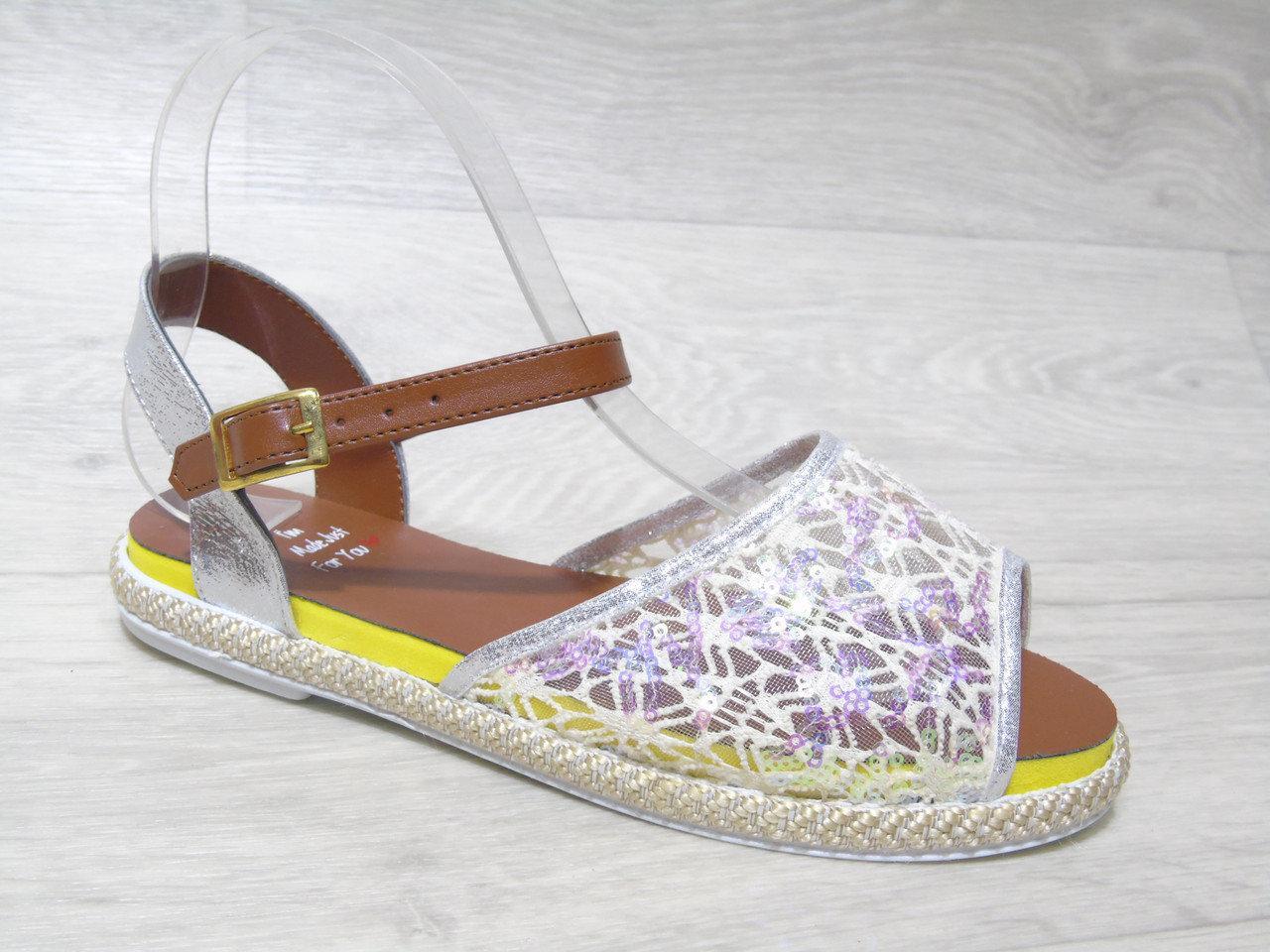 Женские сандалии (Код: 401 белый )