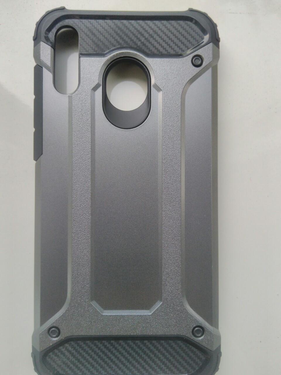 Чехол трансформер  противоударный Samsung M20 2019  ( серый)