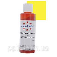 Краситель гелевый AmeriColor (Америколор) Электрический Желтый 128г
