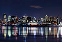 Фотообои 3D город 368х254 см (флизелин, бумага) Ночь в городе Монреале (5058WG)