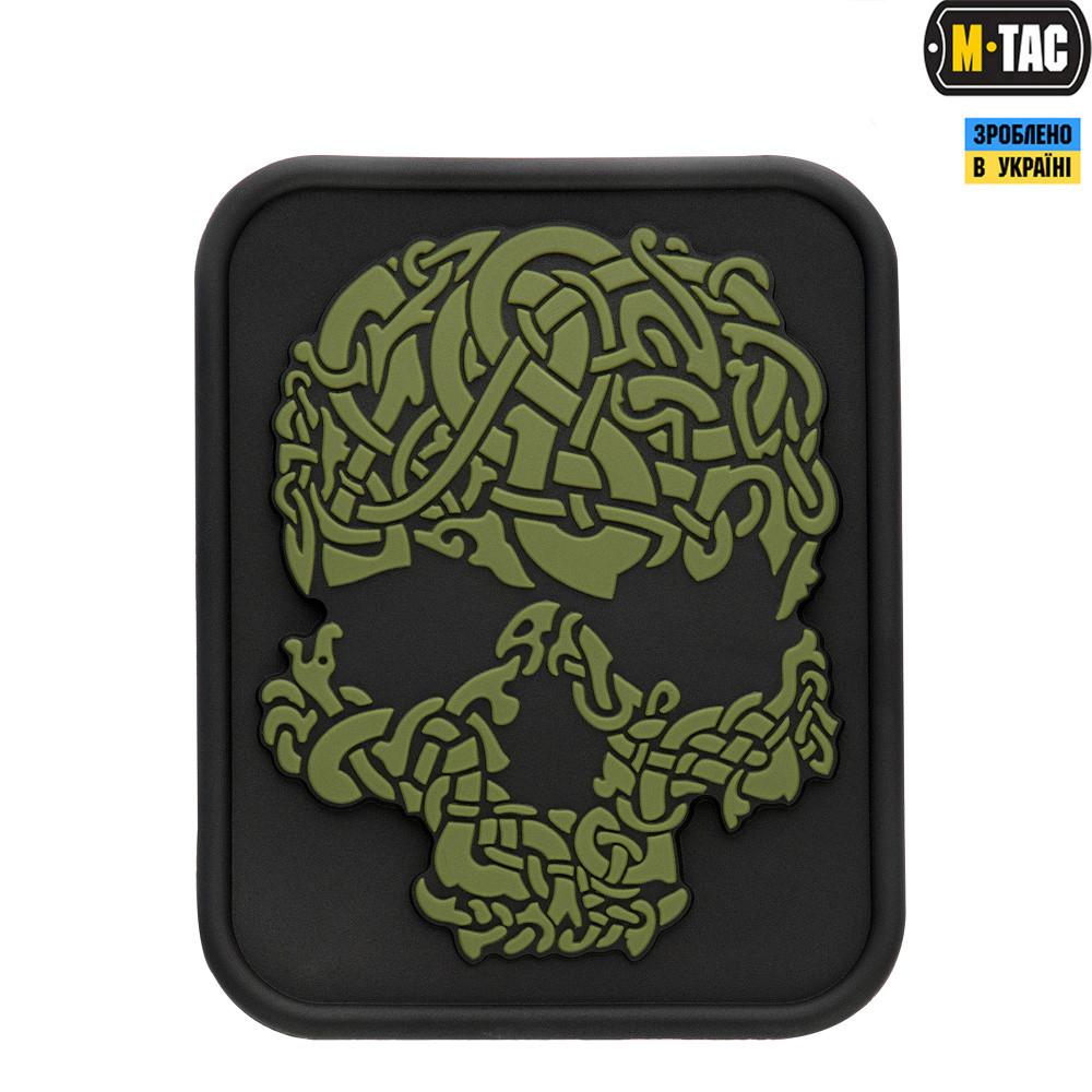Нашивка ПВХ M-Tac Viking Skull Olive/Black