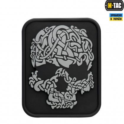 Нашивка ПВХ M-Tac Viking Skull Grey/Black