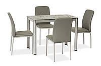 Стол кухонный Damar 100х60 серый