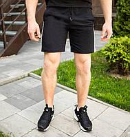 Качественные мужские шорты Pobedov короткие трикотажные в черном цвете, фото 1