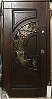 """Двері вхідні металеві з  КОВКА №10 серії """"Акцент- ПОЛІМЕР"""""""