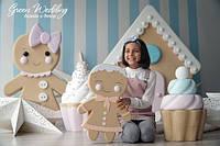 Фотозона на праздник, печенье, мороженое