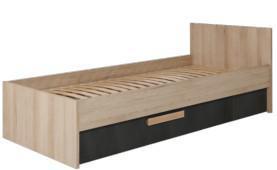Кровать односпальная с выдвижным ящиком Айго Сокме