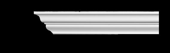 Карниз потолочный гладкий Classic Home 2-0380, лепной декор из полиуретана