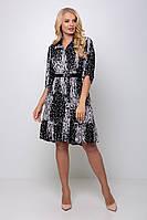 Летнее платье для полных девушек Перис черное