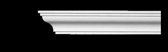 Карниз потолочный гладкий Classic Home 2-0430, лепной декор из полиуретана