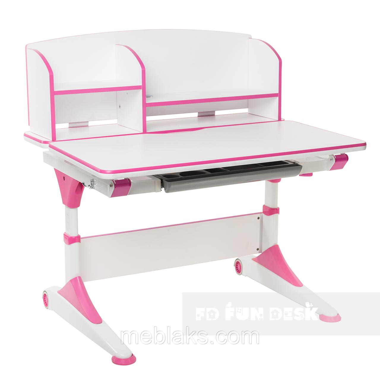 Парта-трансформер для школьника FunDesk Trovare Pink с надстройкой