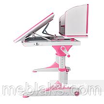 Парта-трансформер для школьника FunDesk Trovare Pink с надстройкой, фото 3