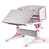 Парта-трансформер для школьника FunDesk Trovare Pink с надстройкой, фото 4